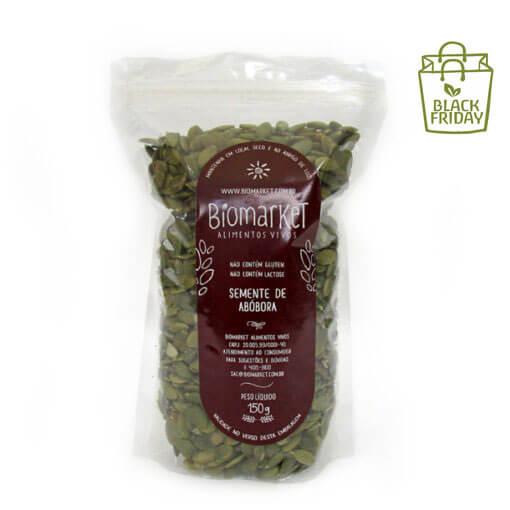 semente de abobora biomarket p 1 teste2 - Semente de Abóbora CRUA - SEM CASCA SEM SAL - Safra Nova - 1kg